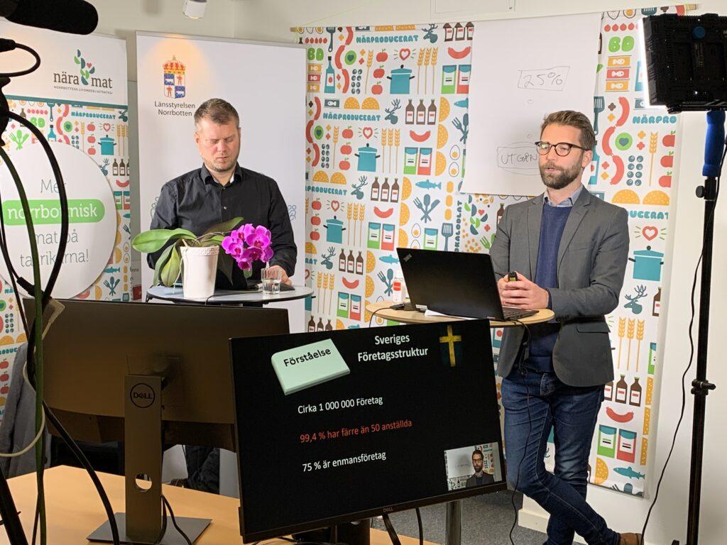 Martin Clarstedt och Markus Svensson från Tillväxt och Tillsyn
