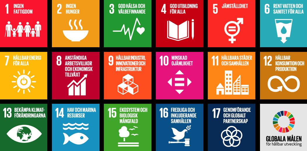 Karta över Globala målen för hållbar utveckling